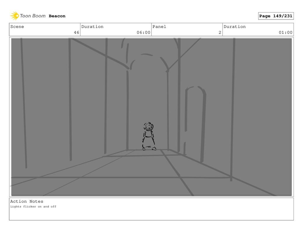 Scene 46 Duration 06:00 Panel 2 Duration 01:00 ...