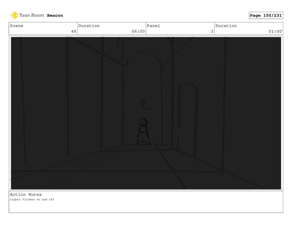 Scene 46 Duration 06:00 Panel 3 Duration 01:00 ...