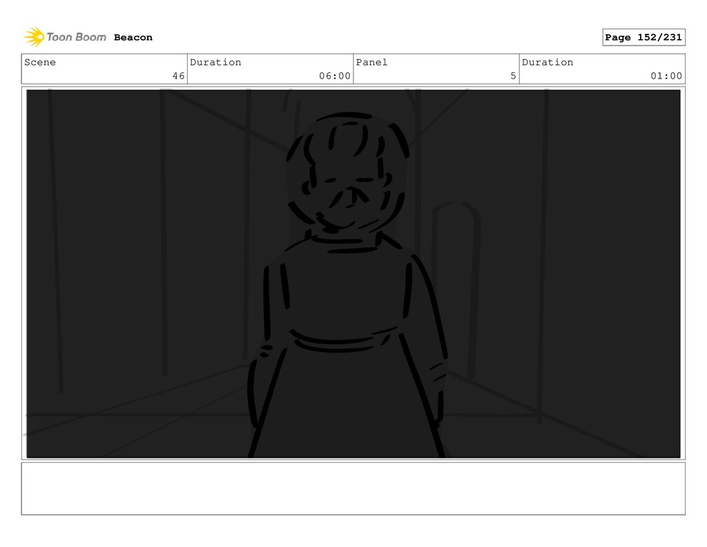 Scene 46 Duration 06:00 Panel 5 Duration 01:00 ...