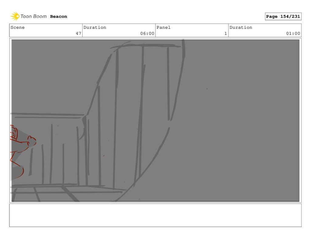 Scene 47 Duration 06:00 Panel 1 Duration 01:00 ...