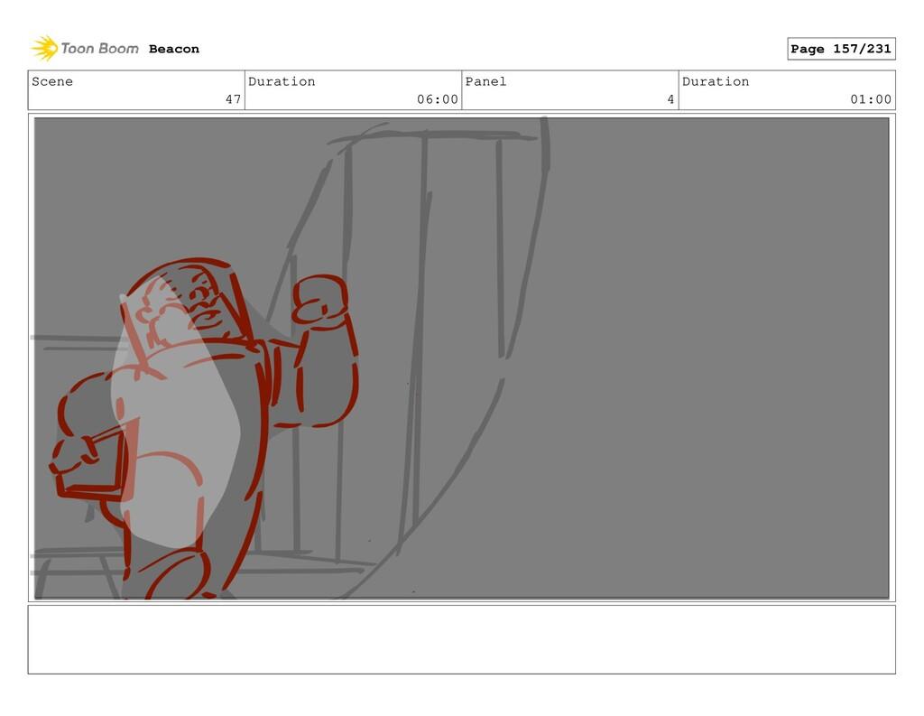 Scene 47 Duration 06:00 Panel 4 Duration 01:00 ...
