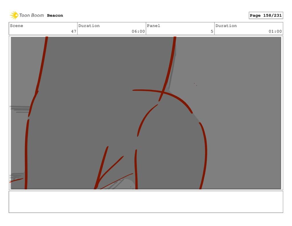 Scene 47 Duration 06:00 Panel 5 Duration 01:00 ...