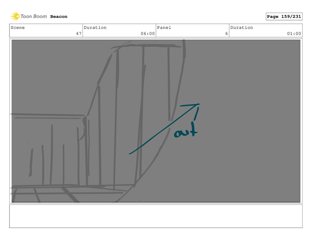 Scene 47 Duration 06:00 Panel 6 Duration 01:00 ...