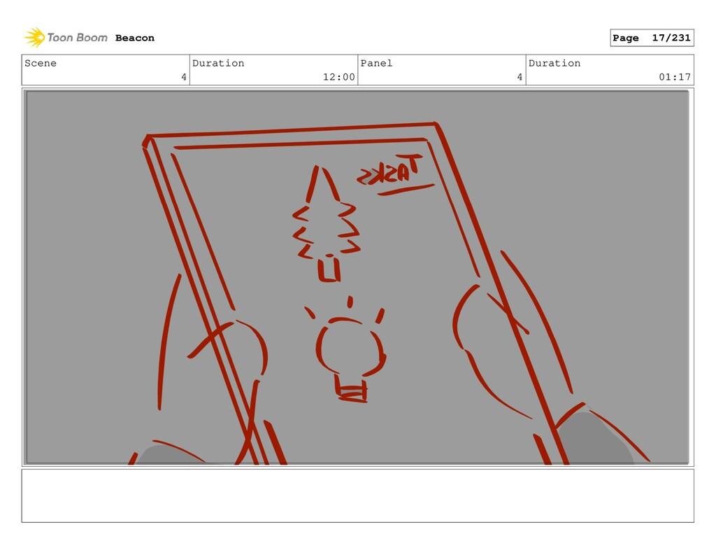 Scene 4 Duration 12:00 Panel 4 Duration 01:17 B...