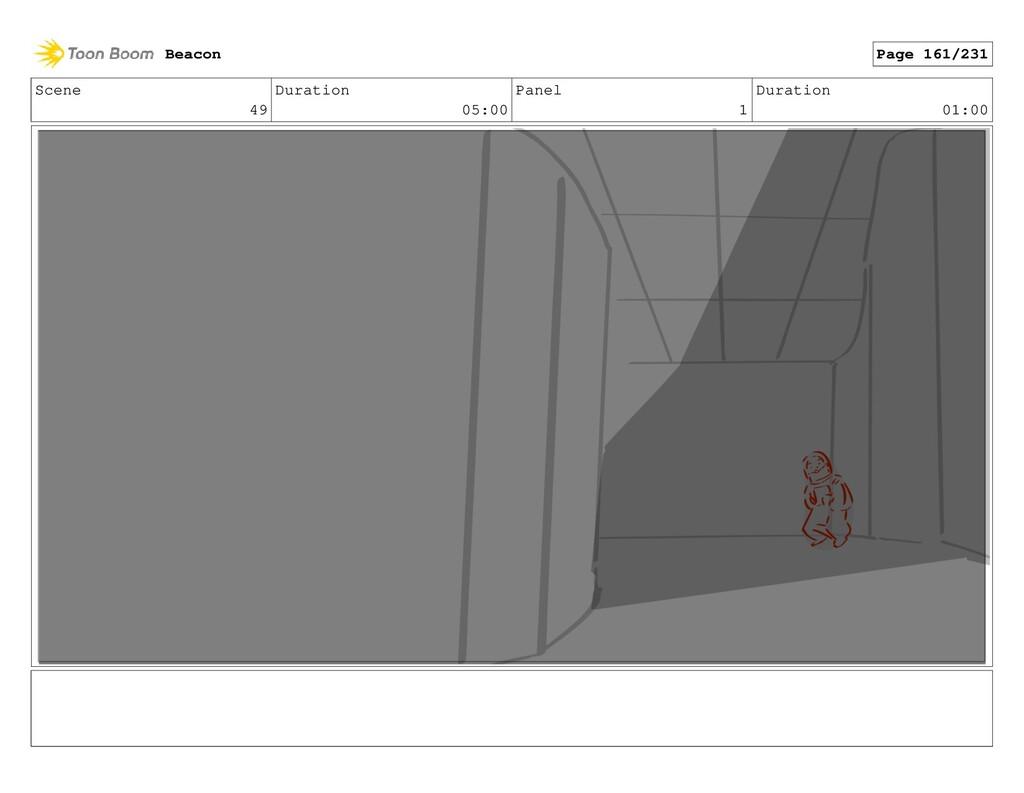 Scene 49 Duration 05:00 Panel 1 Duration 01:00 ...