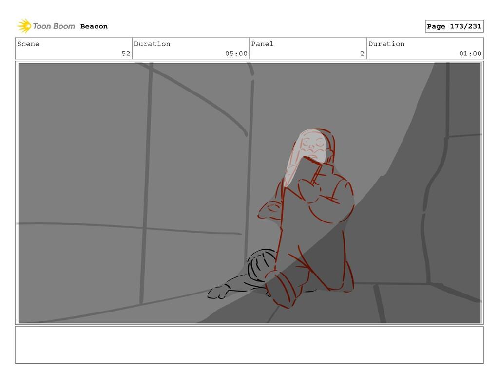 Scene 52 Duration 05:00 Panel 2 Duration 01:00 ...