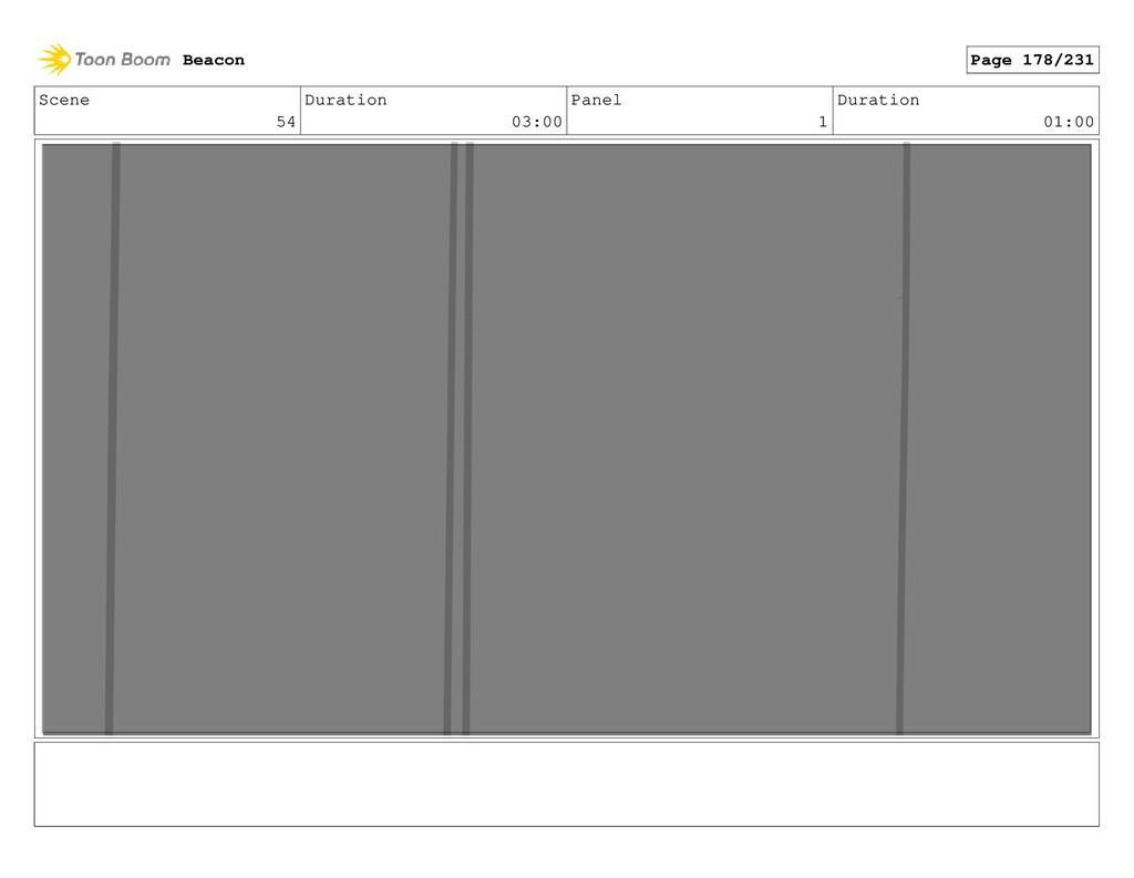 Scene 54 Duration 03:00 Panel 1 Duration 01:00 ...