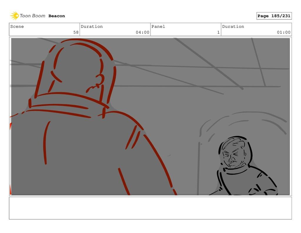 Scene 58 Duration 04:00 Panel 1 Duration 01:00 ...