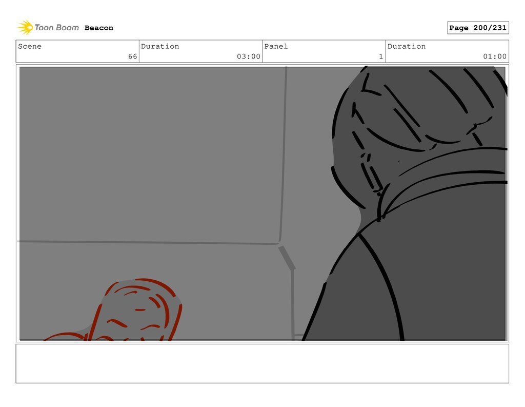 Scene 66 Duration 03:00 Panel 1 Duration 01:00 ...
