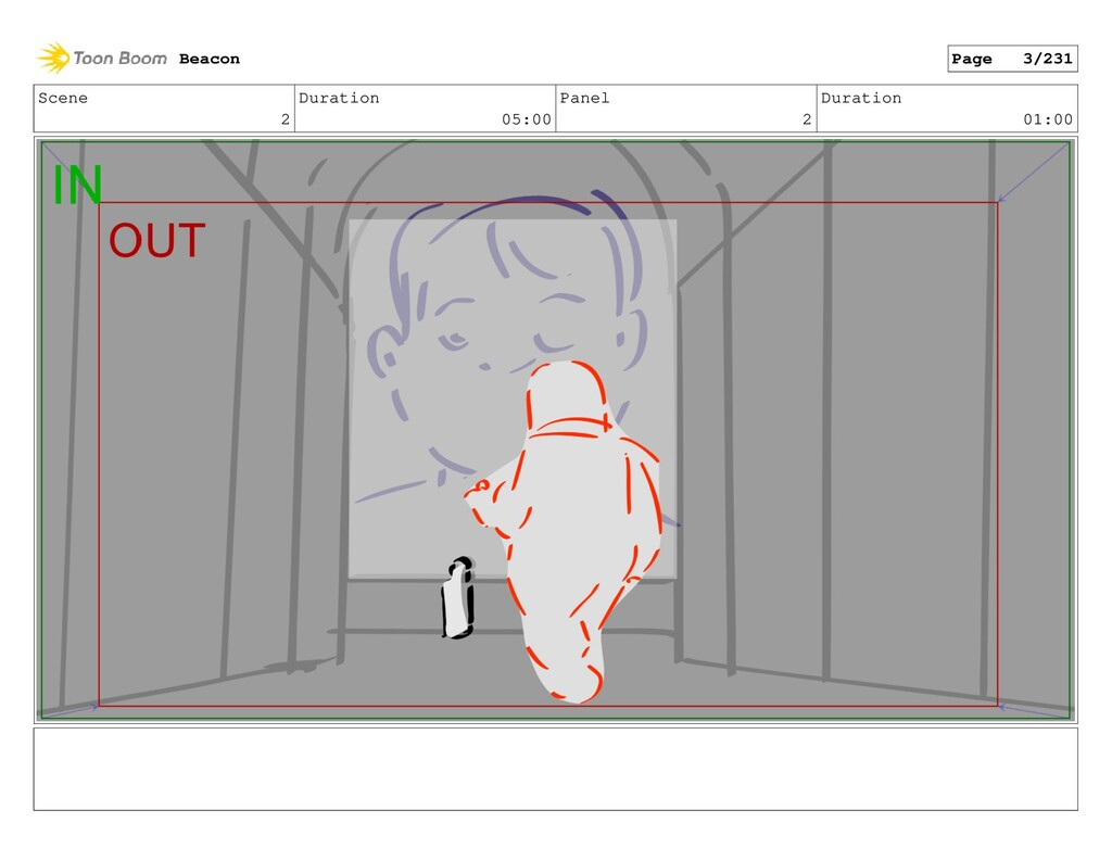 Scene 2 Duration 05:00 Panel 2 Duration 01:00 B...