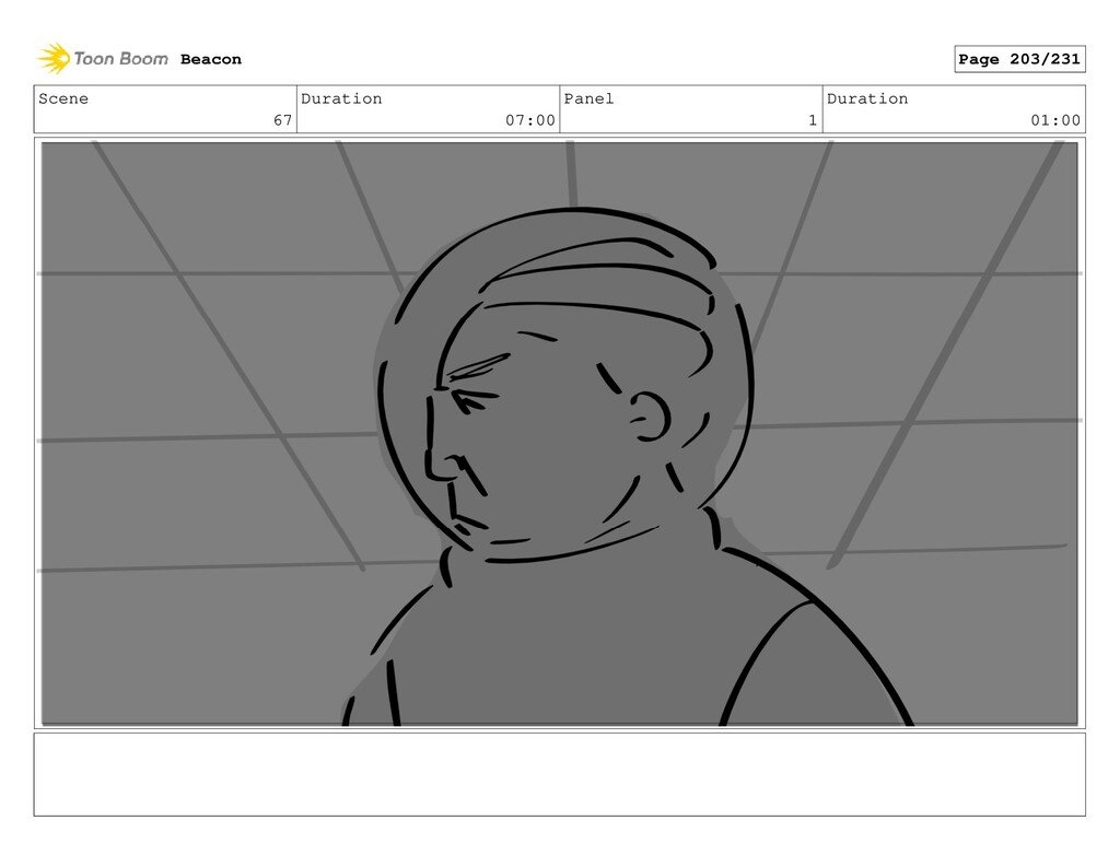 Scene 67 Duration 07:00 Panel 1 Duration 01:00 ...
