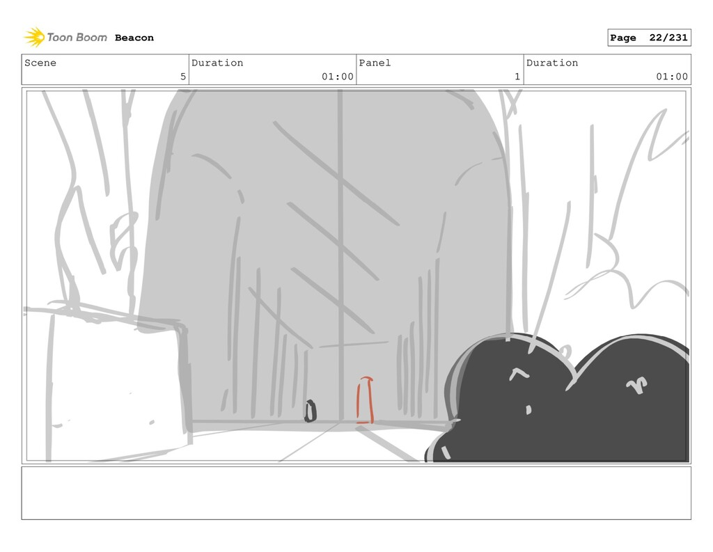 Scene 5 Duration 01:00 Panel 1 Duration 01:00 B...