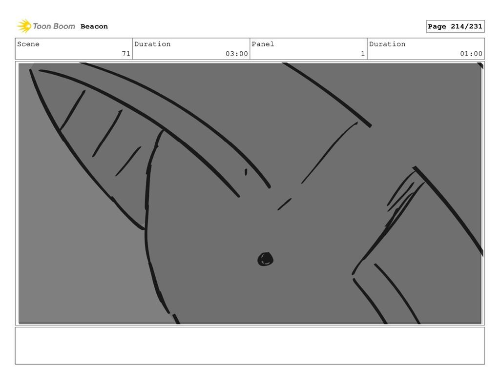 Scene 71 Duration 03:00 Panel 1 Duration 01:00 ...
