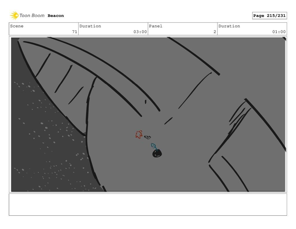 Scene 71 Duration 03:00 Panel 2 Duration 01:00 ...