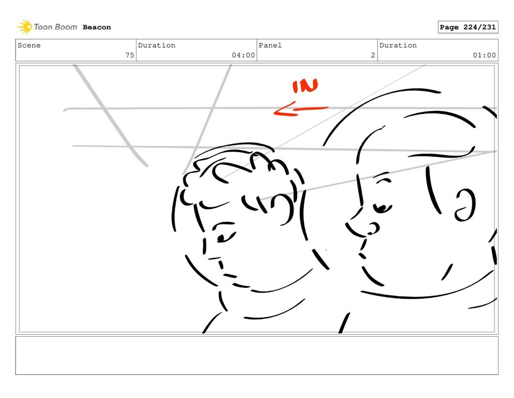 Scene 75 Duration 04:00 Panel 2 Duration 01:00 ...