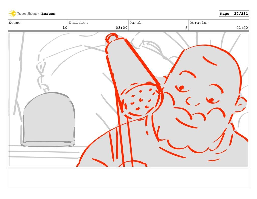 Scene 10 Duration 03:00 Panel 3 Duration 01:00 ...