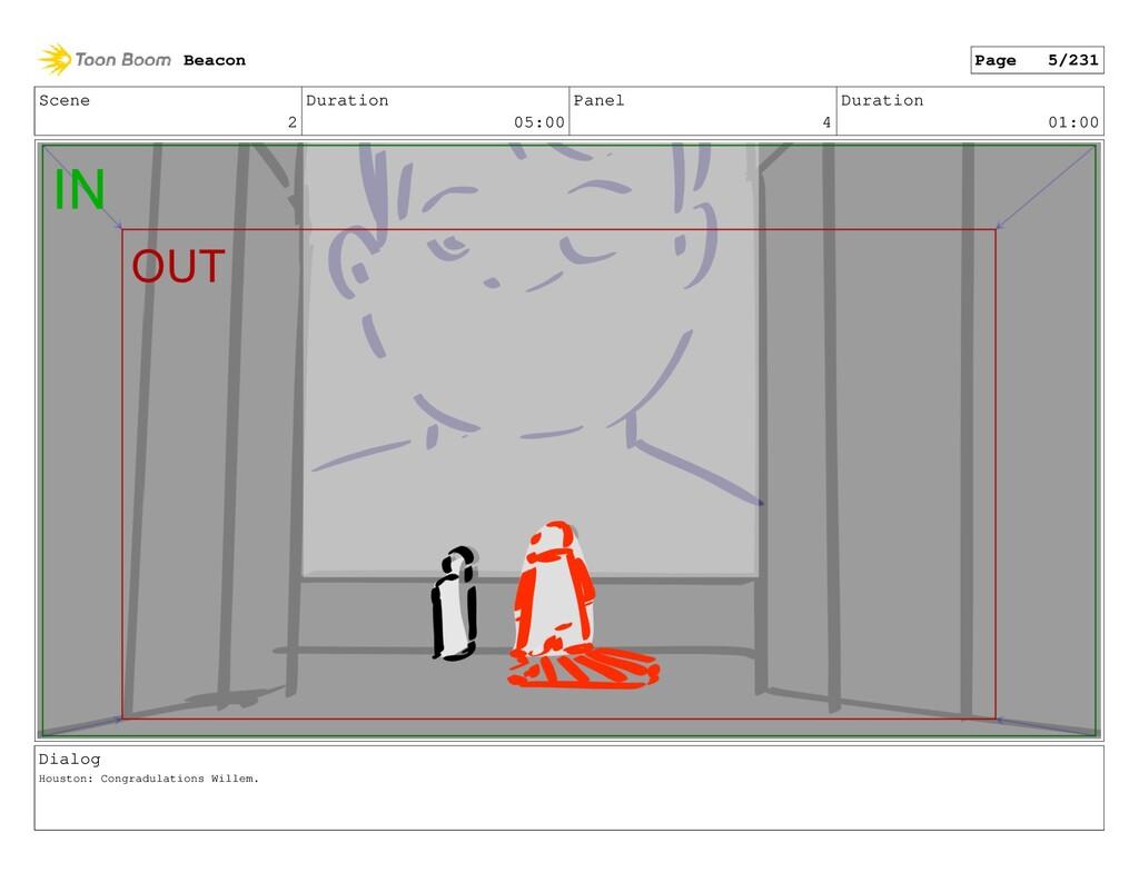 Scene 2 Duration 05:00 Panel 4 Duration 01:00 D...