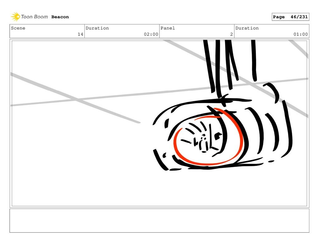 Scene 14 Duration 02:00 Panel 2 Duration 01:00 ...