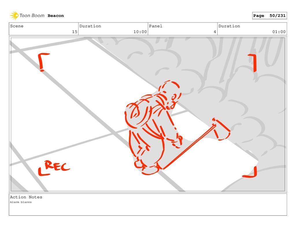Scene 15 Duration 10:00 Panel 4 Duration 01:00 ...