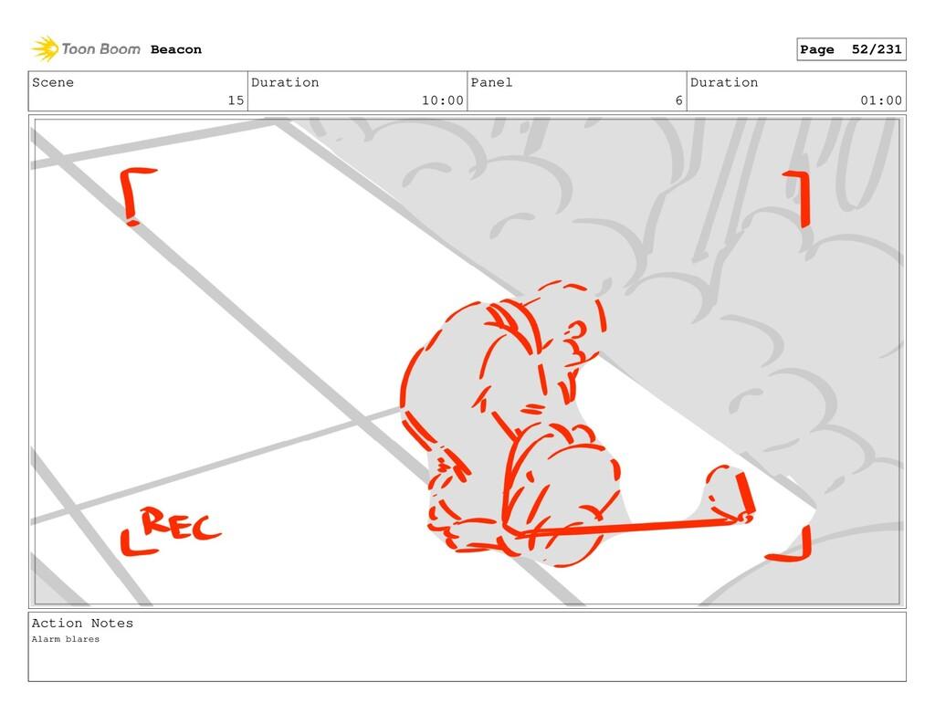 Scene 15 Duration 10:00 Panel 6 Duration 01:00 ...