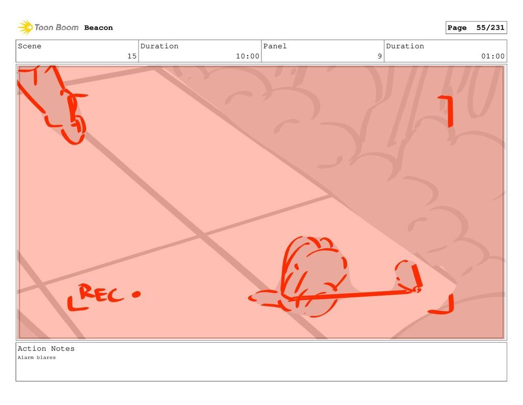 Scene 15 Duration 10:00 Panel 9 Duration 01:00 ...