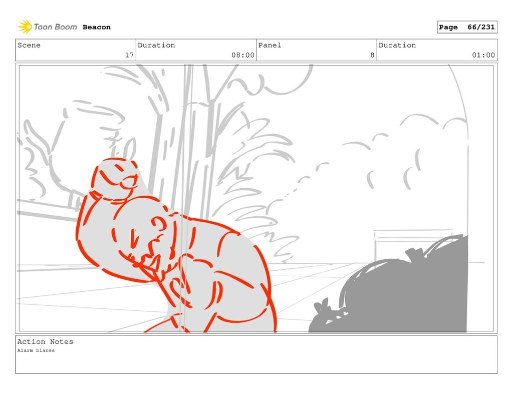 Scene 17 Duration 08:00 Panel 8 Duration 01:00 ...