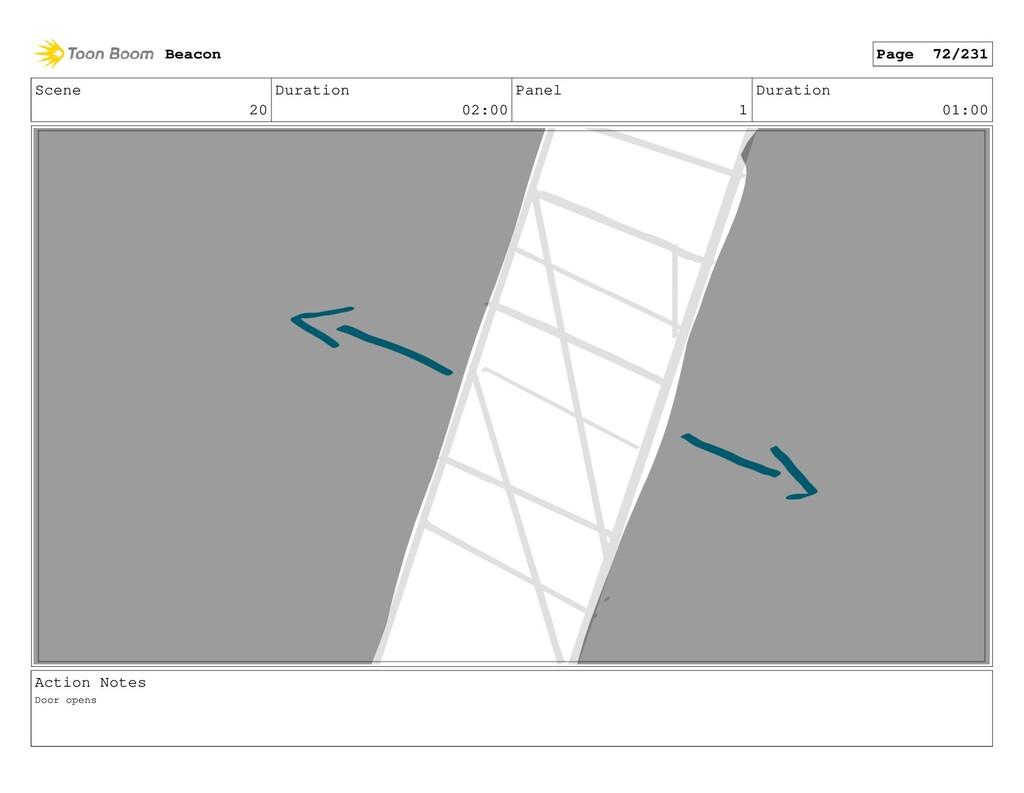 Scene 20 Duration 02:00 Panel 1 Duration 01:00 ...