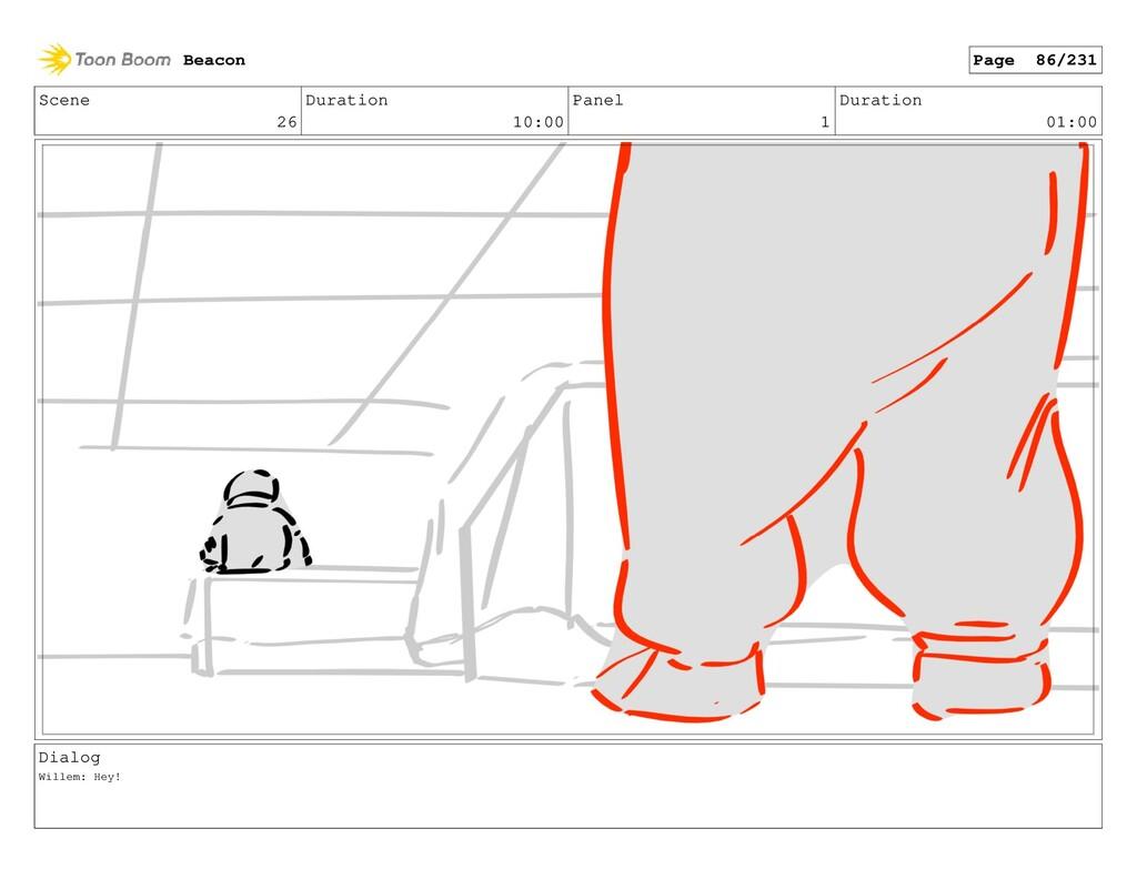 Scene 26 Duration 10:00 Panel 1 Duration 01:00 ...