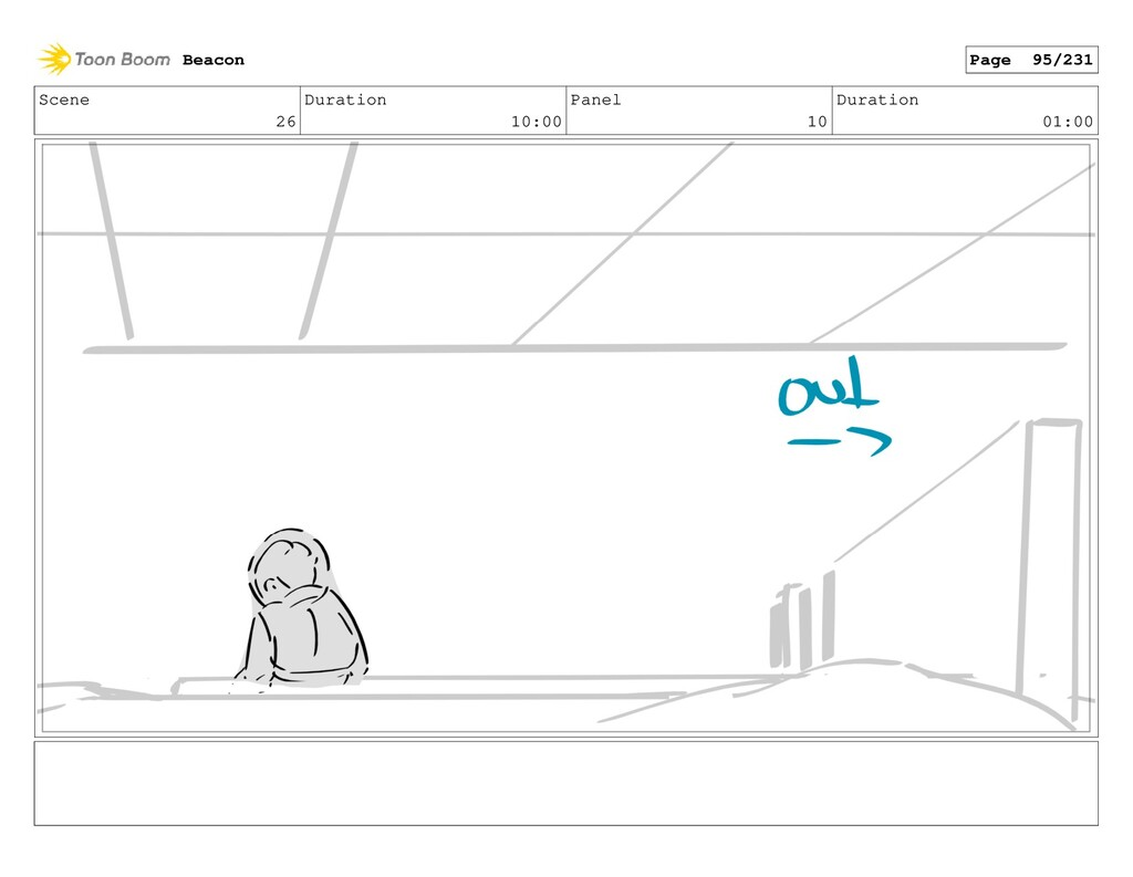 Scene 26 Duration 10:00 Panel 10 Duration 01:00...