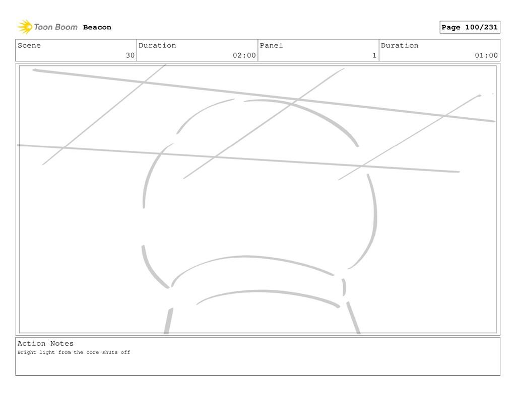 Scene 30 Duration 02:00 Panel 1 Duration 01:00 ...