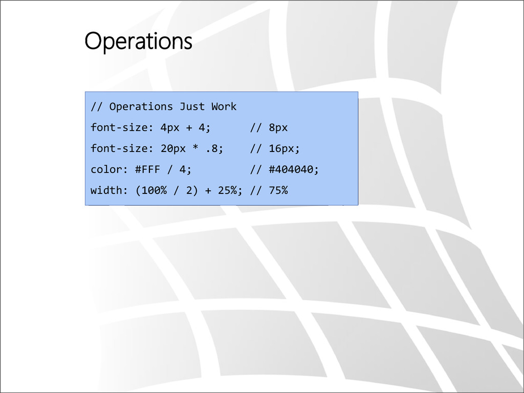 Operations // Operations Just Work font-size: 4...