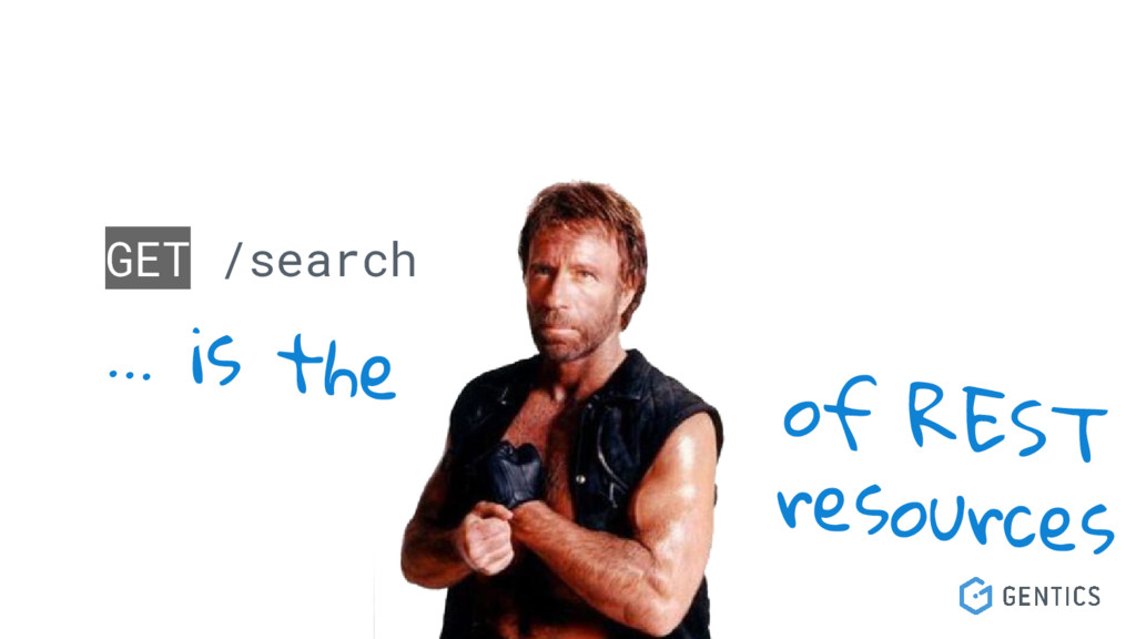 GET /search … is the of REST resources