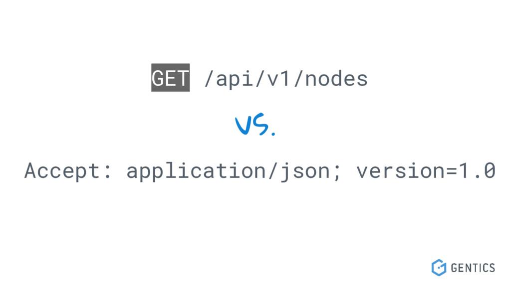 GET /api/v1/nodes vs. Accept: application/json;...