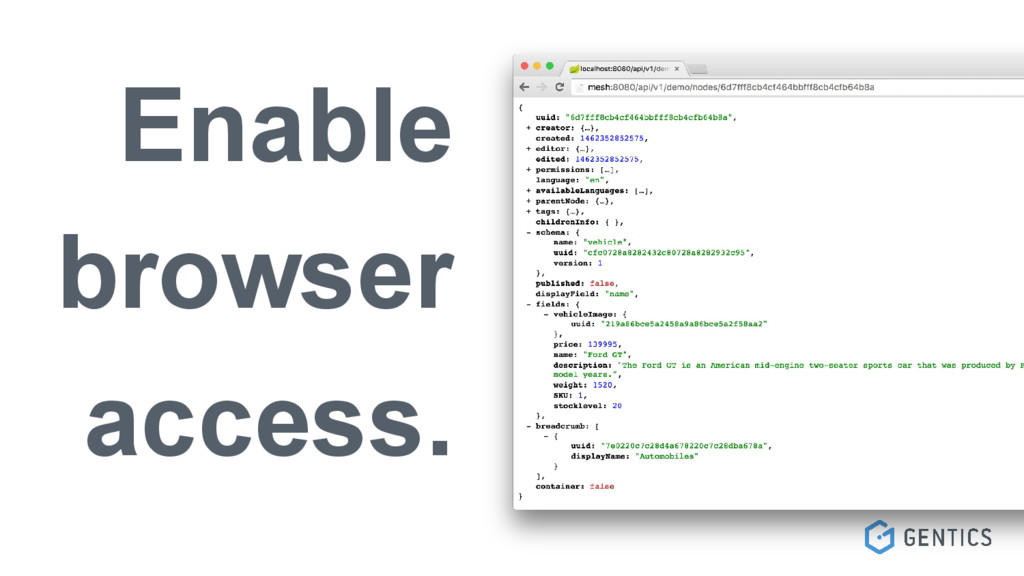 Enable browser access.