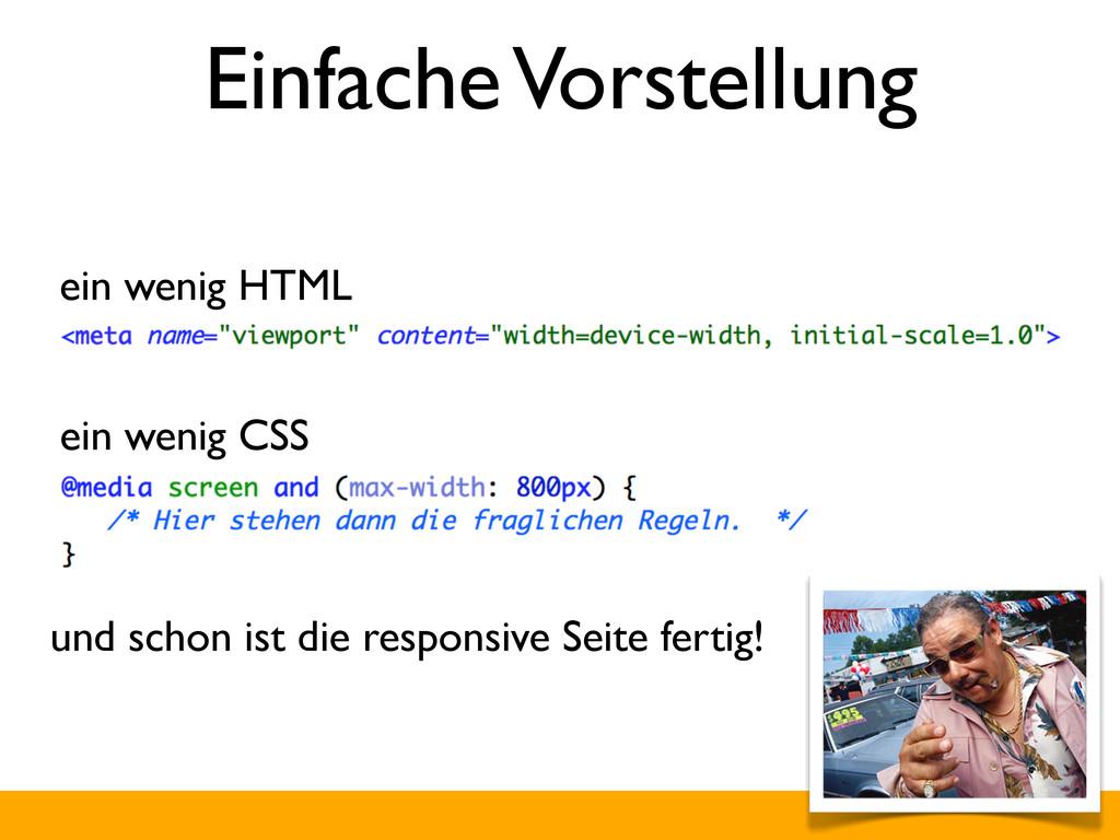 Einfache Vorstellung ein wenig CSS ein wenig HT...