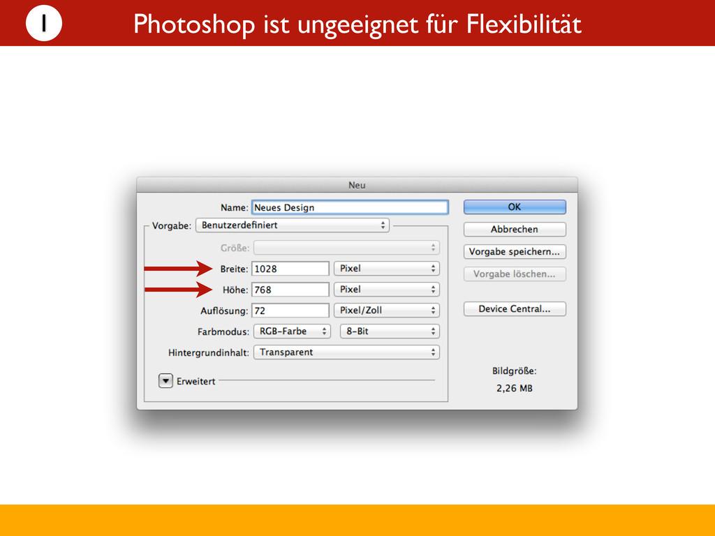 Photoshop ist ungeeignet für Flexibilität 1