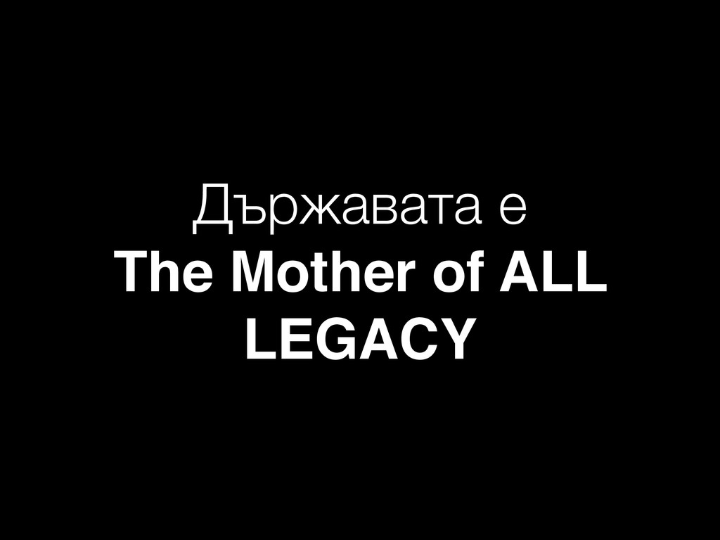 Държавата е The Mother of ALL LEGACY
