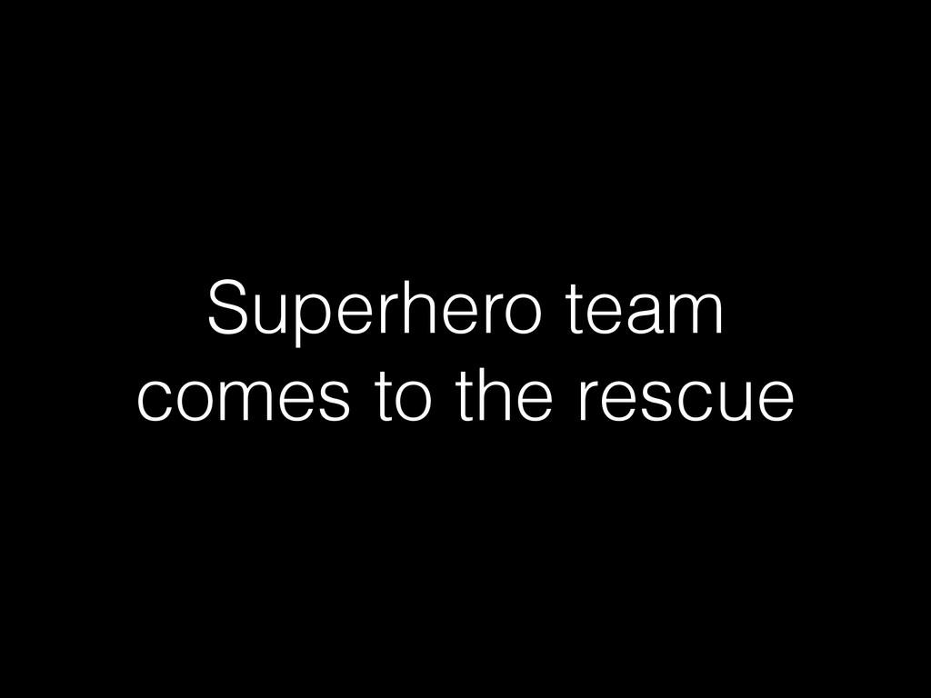 Superhero team comes to the rescue
