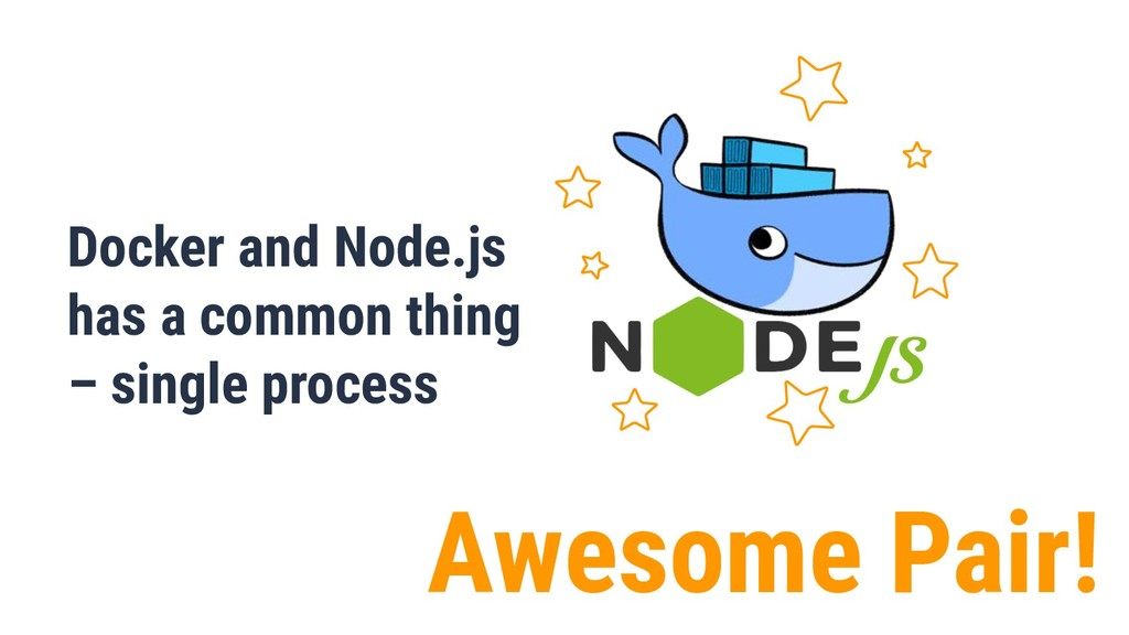 Awesome Pair! Docker and Node.js has a common t...