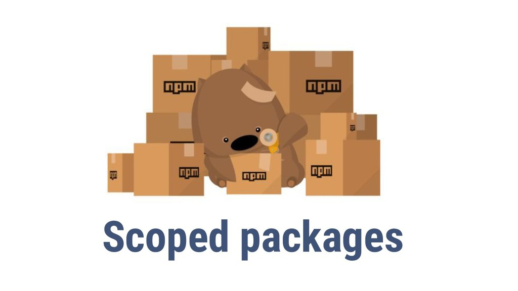 11 Scoped packages