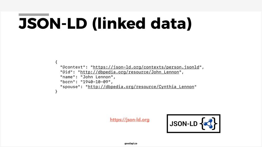 """goodapi.co JSON-LD (linked data) { """"@context"""": ..."""