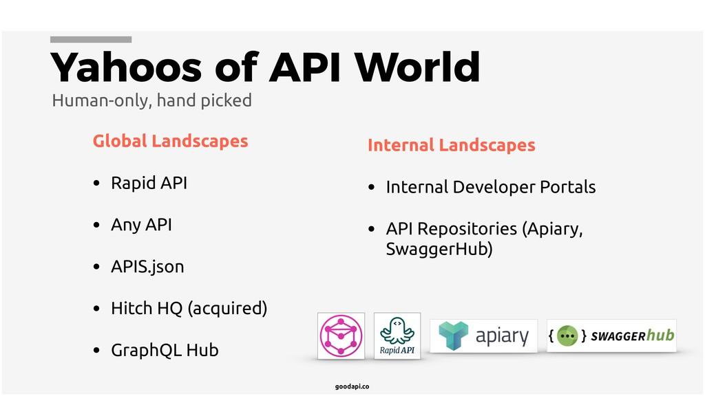 goodapi.co Yahoos of API World Global Landscape...