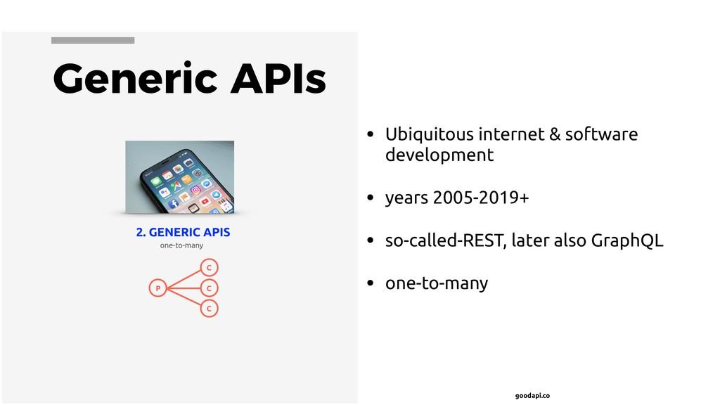 goodapi.co Generic APIs • Ubiquitous internet &...