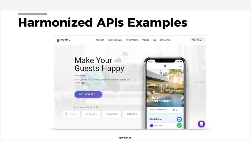 goodapi.co Harmonized APIs Examples
