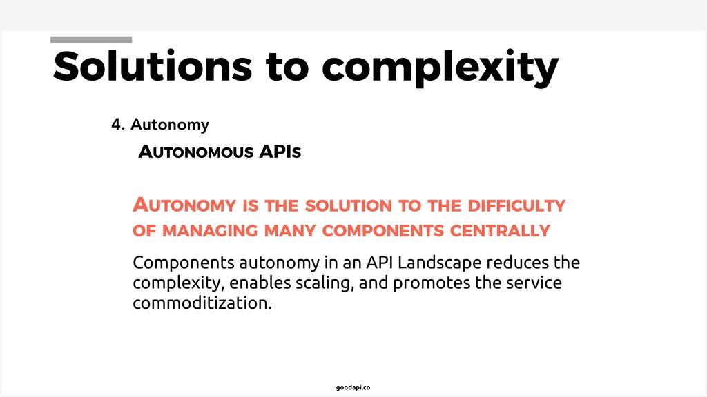 goodapi.co 4. Autonomy AUTONOMOUS APIS AUTONOMY...
