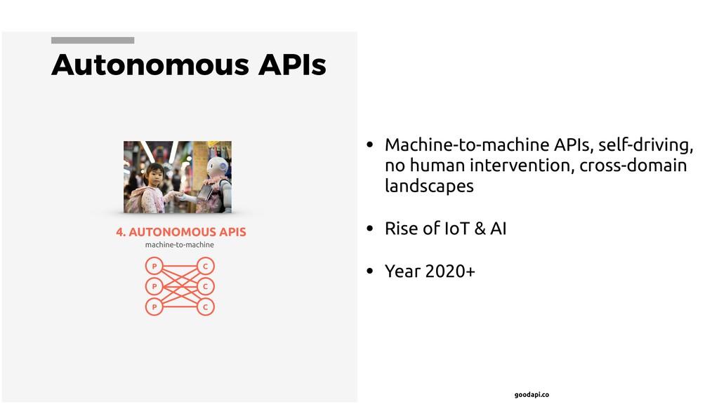 goodapi.co Autonomous APIs • Machine-to-machine...
