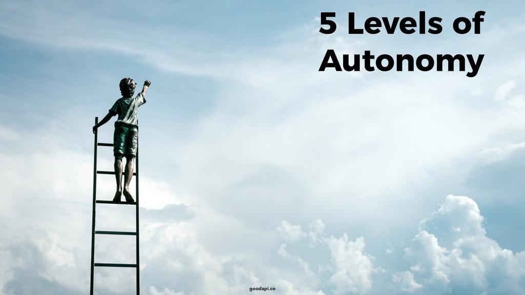 goodapi.co 5 Levels of Autonomy goodapi.co