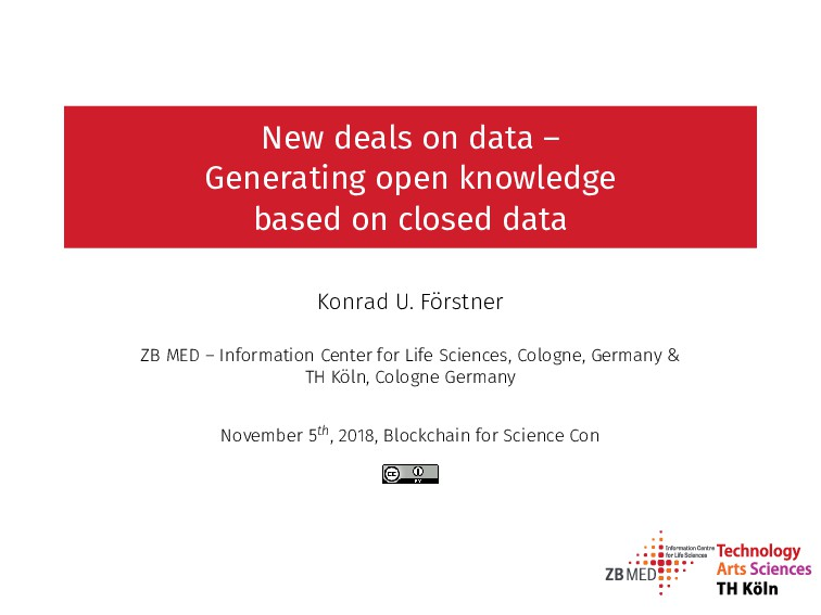 New deals on data – Generating open knowledge b...