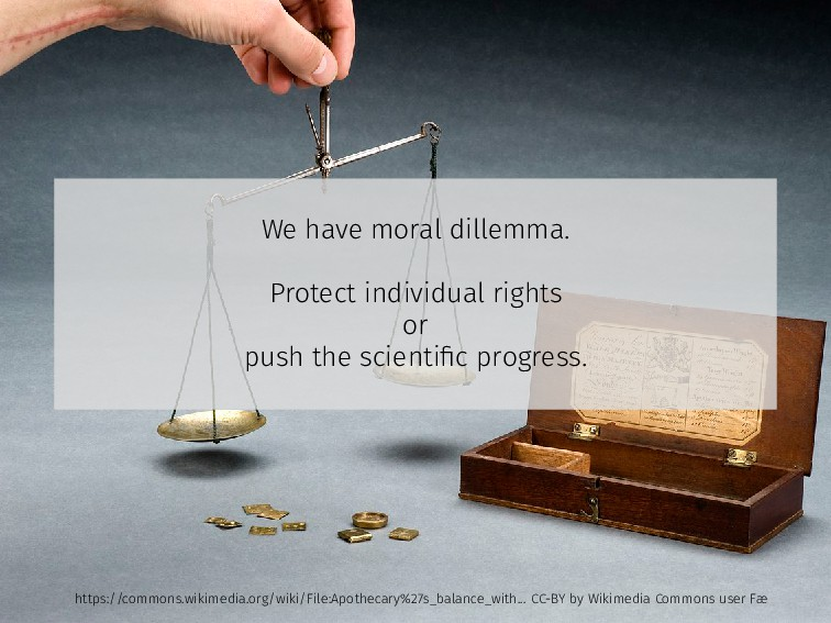 We have moral dillemma. Protect individual righ...