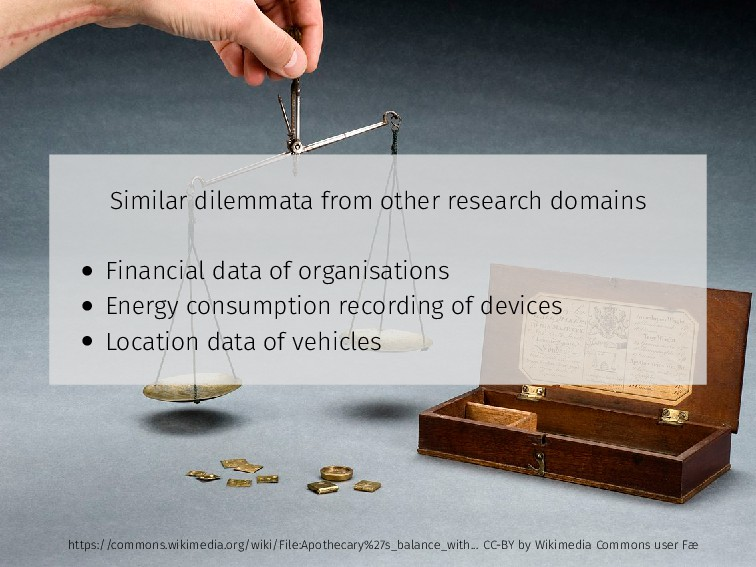 Similar dilemmata from other research domains •...